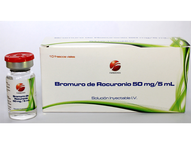 Bromuro de Rocuronio 50 mg/5 ml Caja x 10