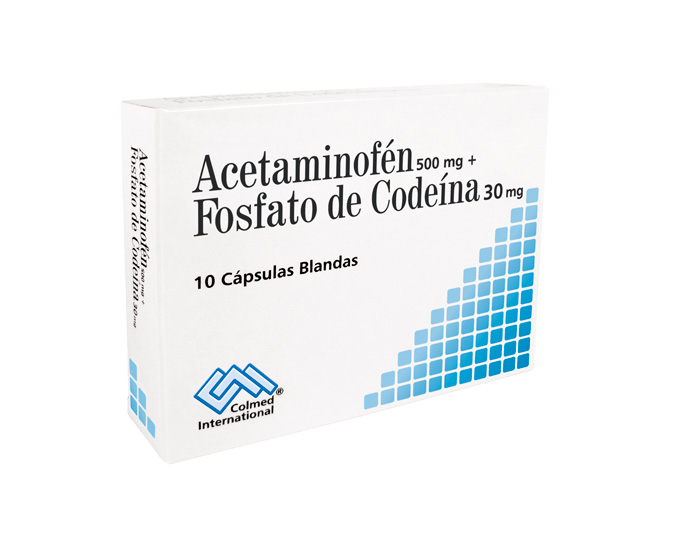 Acetaminofen 500+Codeina 30 mg Caja x 10